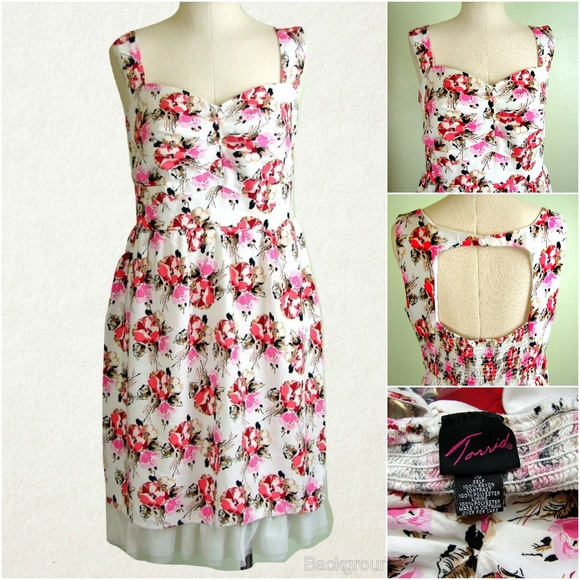 c818bc7684a Torrid Floral Cotton Sateen Swing Dress 16 Plus. M 5aa03ed82ae12fc1fe22e3f0